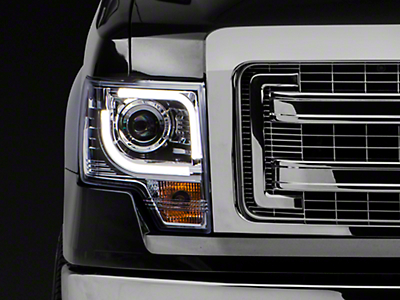 Recon Projector Headlights - Clear Lens (13-14 F-150 w/ Factory Projectors/HIDs)