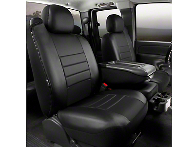 Fia Custom Fit LeatherLite Front 40/20/40 Seat Cover - Black (11-14 w/ Bench Seat)