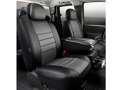 Fia Custom Fit LeatherLite Front 40/20/40 Seat Cover - Gray (11-14 F-150 w/ Bench Seat)