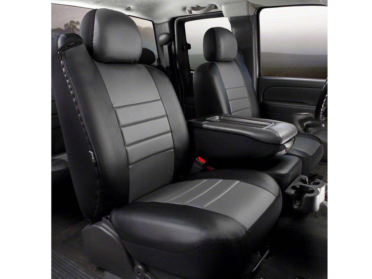 Fia Front 40//20//40 Split Custom Fit Seat Cover Tweed Gray