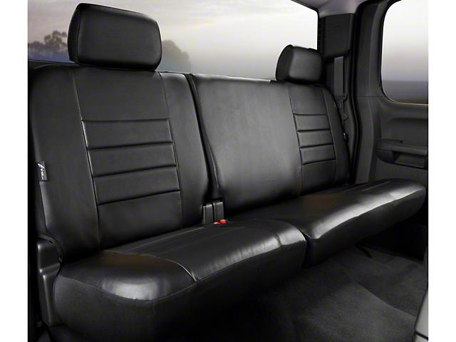 Fia Custom Fit LeatherLite Rear 60/40 Seat Cover - Black (11-14 SuperCab, SuperCrew)