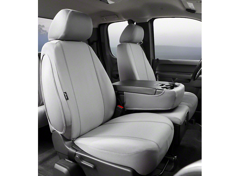 Fia Custom Fit Poly-Cotton Front 40/20/40 Seat Cover - Gray (09-14 w/ Bench Seat)
