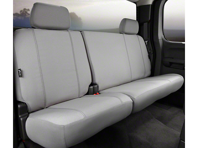 Fia Custom Fit Poly-Cotton Rear 60/40 Seat Cover - Gray (11-14 F-150 SuperCab, SuperCrew)