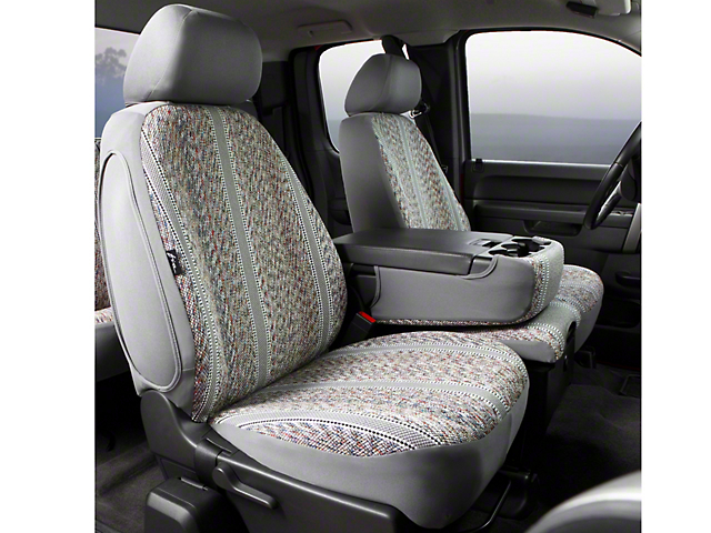 Fia F-150 Custom Fit Saddle Blanket Front 40/20/40 Seat Cover - Gray