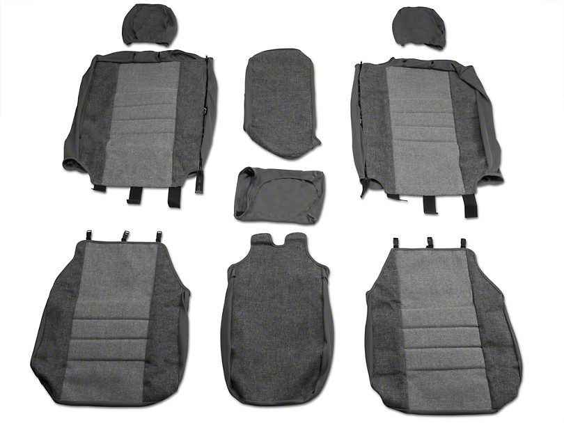 Fia Custom Fit OE Series Front 40/20/40 Seat Cover - Gray (04-08 w/ Bench Seat)