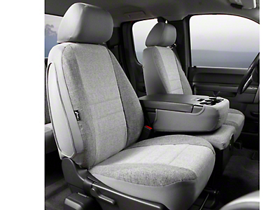 Fia Custom Fit Tweed Front 40/20/40 Seat Cover - Gray (09-14 F-150 w/ Bench Seat)