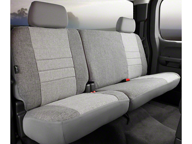Fia Custom Fit Tweed Rear 60/40 Seat Cover - Gray (09-14 SuperCab, SuperCrew)