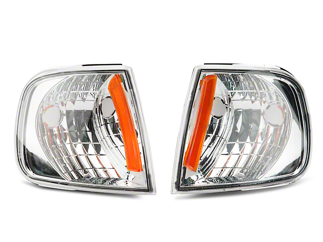 Axial Chrome Corner Lights with Amber Reflector (97-03 All)
