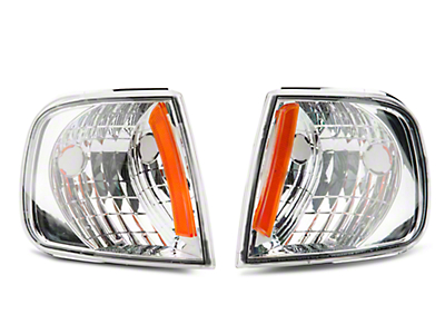 Axial Chrome Corner Lights with Amber Reflector (97-03 F-150)