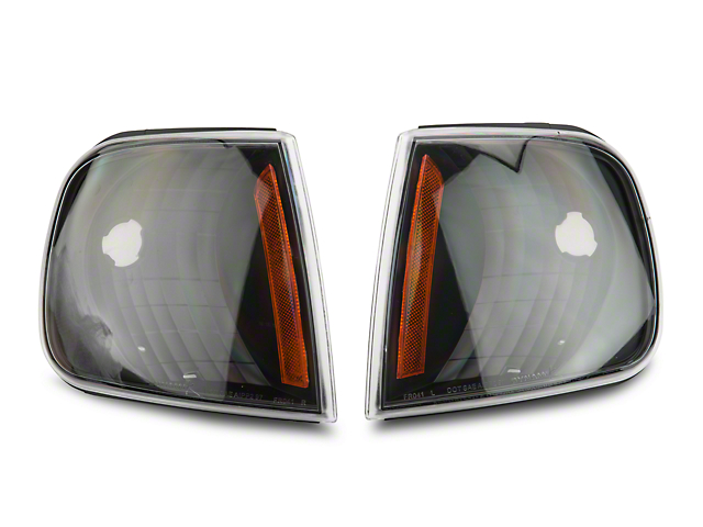 Axial Black Corner Lights with Amber Reflector (97-03 All)