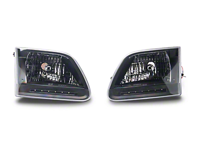 Axial Black LED Crystal Headlights (97-03 All)