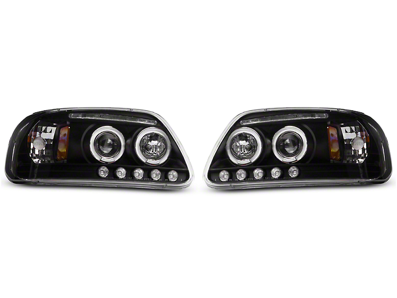 Axial LED Dual Halo Projector Headlights (97-03 All)