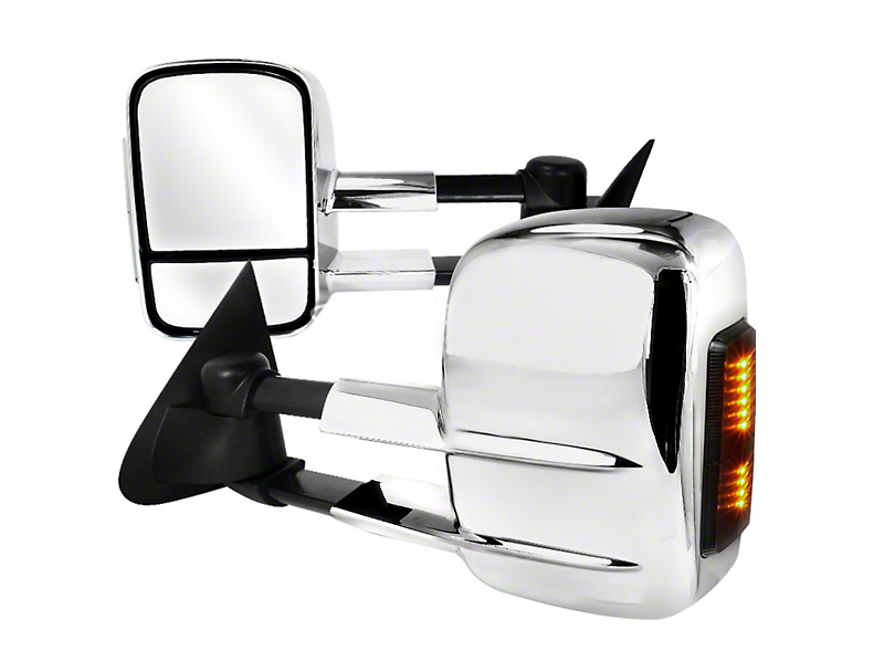 SpeedForm Chrome Extending Towing Mirror with LED Lights (97-03 Regular Cab, SuperCab)
