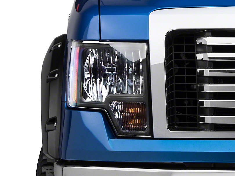 Axial Black Euro Style Headlights (09-14 F-150 w/o Factory HID)