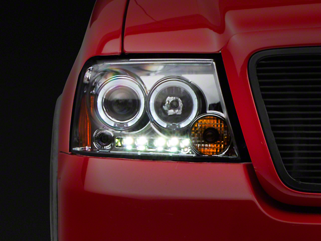 Axial Chrome Dual Halo LED Projector Headlights (04-08 All)