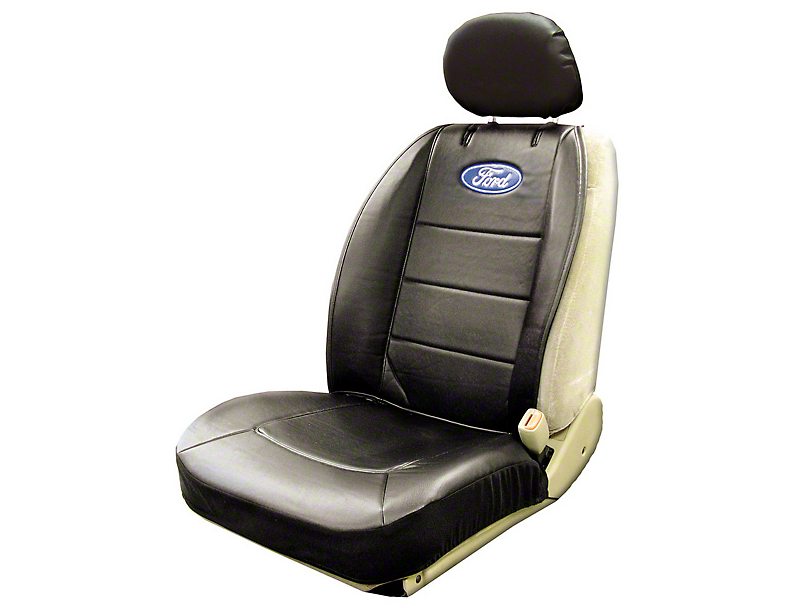 Alterum Ford Oval Logo Embroidered Sideless Seat Cover w/ Head Rest (97-17 All)