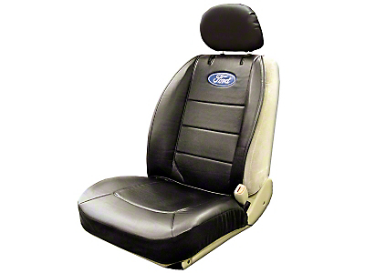 Alterum Ford Oval Logo Embroidered Sideless Seat Cover w/ Head Rest (97-18 All)