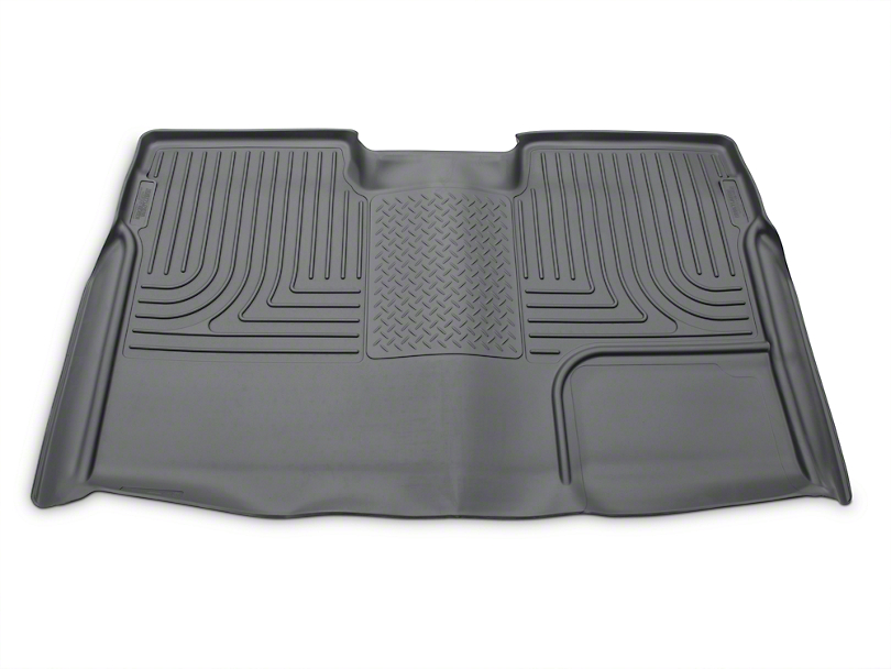 Husky WeatherBeater 2nd Seat Floor Liner - Full Coverage - Gray (09-14 SuperCrew)