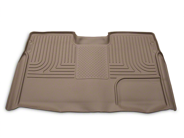 Husky WeatherBeater 2nd Seat Floor Liner - Full Coverage - Tan (09-14 SuperCrew)
