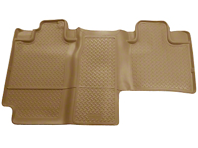 Husky Classic 2nd Seat Floor Liner - Tan (04-08 SuperCab, SuperCrew)