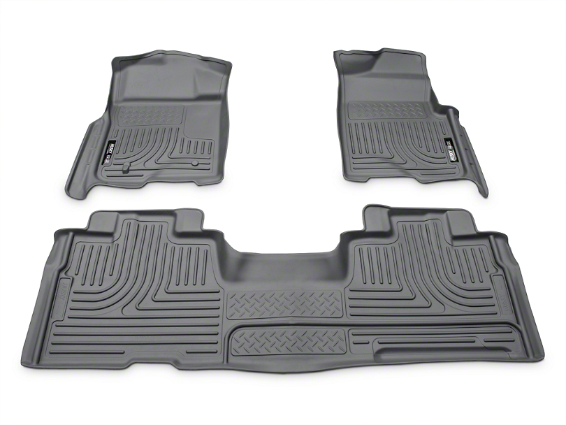 Husky WeatherBeater Front & 2nd Seat Floor Liners - Gray (09-14 F-150 SuperCab, SuperCrew)
