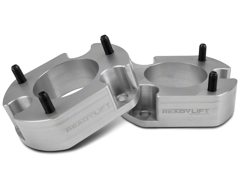 ReadyLIFT 2.5 in. Billet Aluminum Leveling Kit - Anodized Silver (04-08 4WD; 04-14 2WD)
