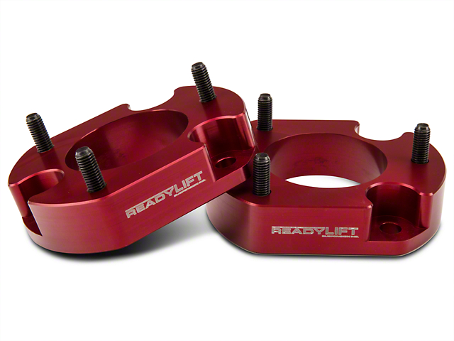 ReadyLIFT 2 in. Billet Aluminum Leveling Kit - Anodized Red (04-14 2WD/4WD, Excluding Raptor)