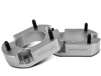 ReadyLIFT 2 in. Billet Aluminum Leveling Kit - Anodized Silver (04-14 2WD/4WD, Excluding Raptor)