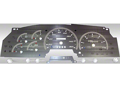 US Speedo Stainless Steel Gauge Face Kit - White (97-98 F-150)