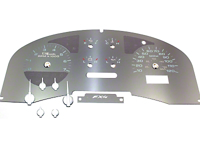 Stainless Steel Gauge Face Kit - White (04-08 FX4; 07-08 FX2)