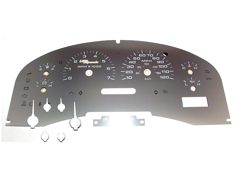 US Speedo Stainless Steel Gauge Face Kit - White (04-08 F-150 XLT)
