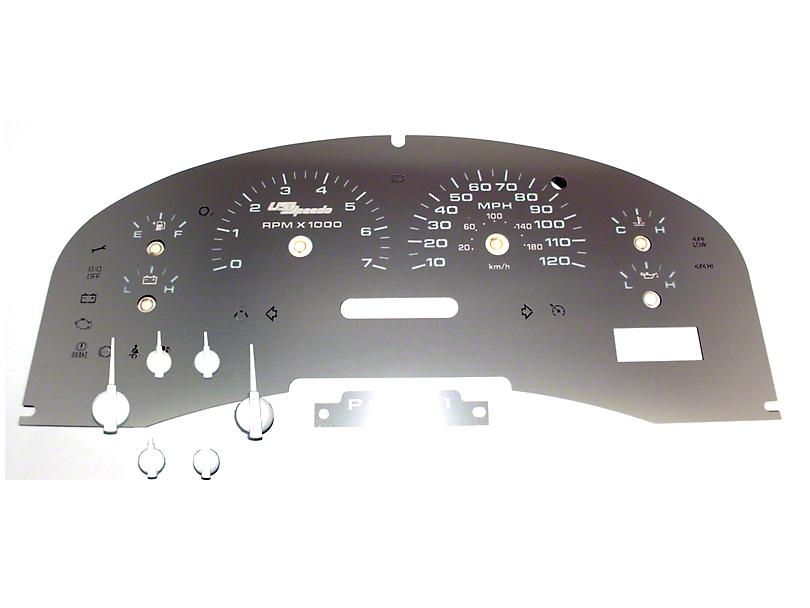 US Speedo Stainless Steel Gauge Face Kit - White (04-08 XLT)