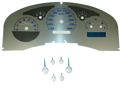 Stainless Steel Gauge Face Kit - Blue (04-06 Lariat)
