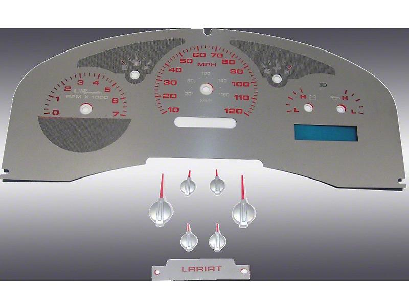 US Speedo Stainless Steel Gauge Face Kit - Red (04-06 F-150 Lariat)