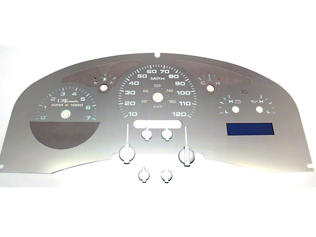 US Speedo Stainless Steel Gauge Face Kit - White (04-06 F-150 Lariat)