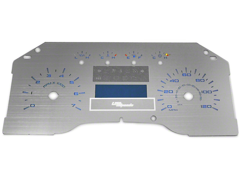 US Speedo Stainless Steel Gauge Face Kit - Blue (09-10 F-150 Lariat)