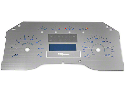 US Speedo Stainless Steel Gauge Face Kit - Blue (09-10 Lariat)