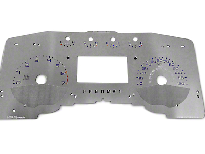 US Speedo Stainless Steel Gauge Face Kit - Blue (11-14 Lariat, King Ranch)