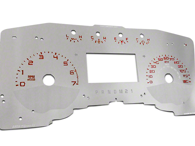 US Speedo Stainless Steel Gauge Face Kit - Red (11-14 Lariat, King Ranch)