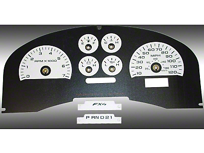 US Speedo Daytona Edition Gauge Face Kit - White (04-08 F-150 FX4)