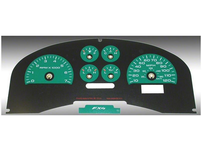 US Speedo Daytona Edition Gauge Face Kit - Green (04-08 FX4; 07-08 FX2)