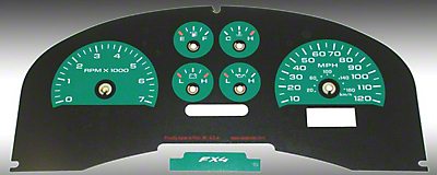 US Speedo Daytona Edition Gauge Face Kit - Green (04-08 FX4; 07-08 FX2)