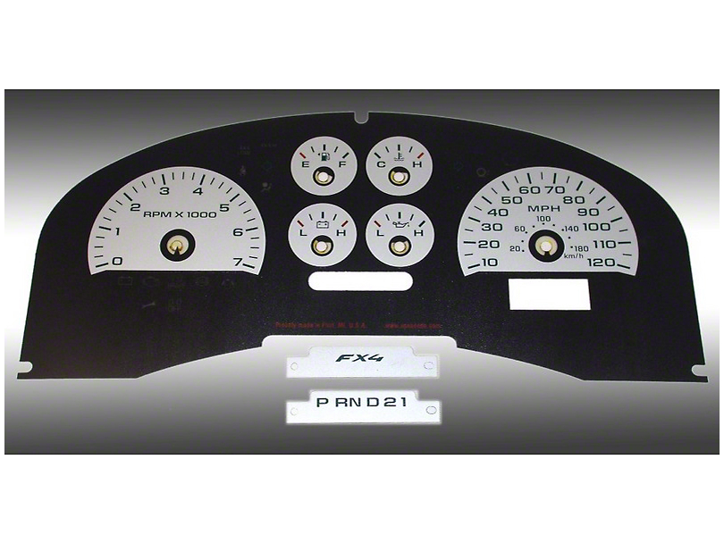 Daytona Edition Gauge Face Kit - Silver (04-08 FX4; 07-08 FX2)