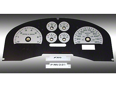 US Speedo Daytona Edition Gauge Face Kit - Silver (04-08 F-150 FX4; 07-08 F-150 FX2)