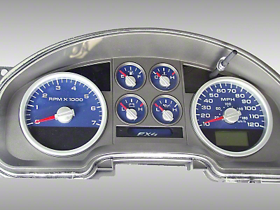 US Speedo Daytona Edition Gauge Face Kit - Blue (04-08 F-150 FX4; 07-08 F-150 FX2)