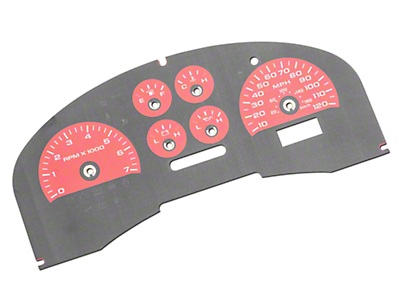 US Speedo Daytona Edition Gauge Face Kit - Red (04-08 F-150 FX4; 07-08 F-150 FX2)