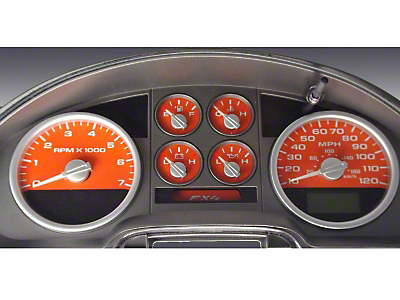 US Speedo Daytona Edition Gauge Face Kit - Orange (04-08 F-150 FX4; 07-08 F-150 FX2)