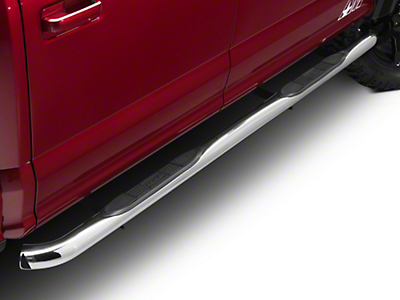 Lund 3 in. Round Bent Nerf Bars - Polished (15-17 All)