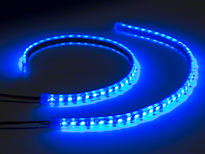 Axial 15 in. LED Strips - Pair - Blue (97-17 All)