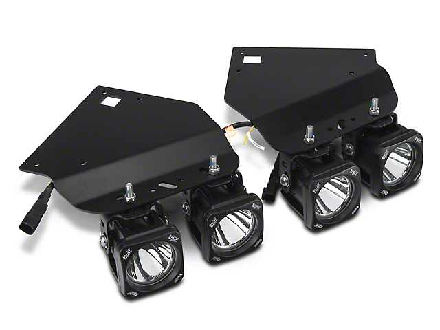 Vision X Fog Light Mounting Kit W/ 4 In. Square LED Lights (10 14 F 150  Raptor)